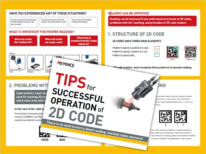 Encouragement of successful operation of 2D code (English)