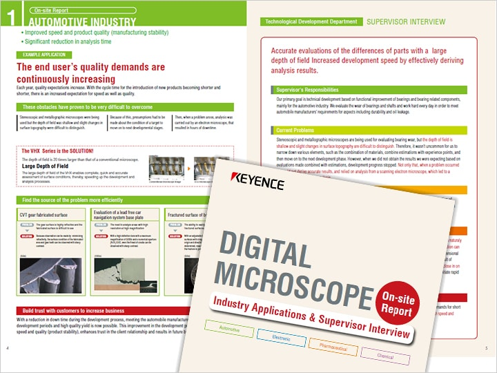 Digital Microscope Usage Example by Industry and Interview with Person in Charge (English)