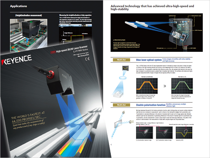 LJ-V Series Ultra-High Speed In-line Profilometer Catalogue (English)