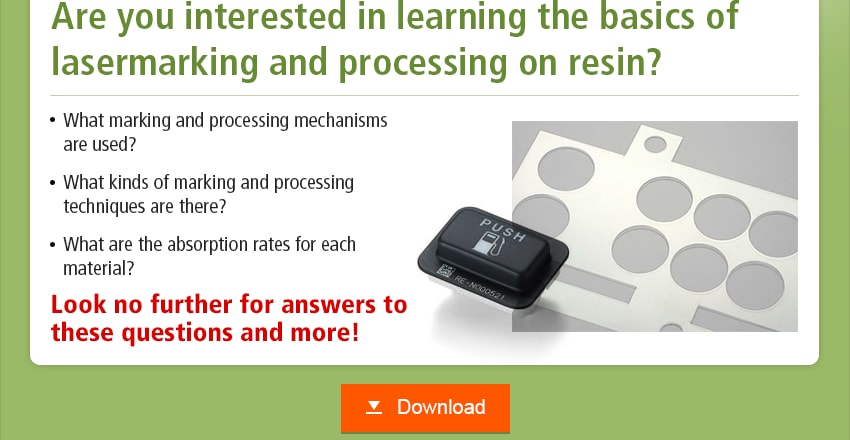 Are you interested in learning the basics of lasermarking and processing on resin? What marking and processing mechanisms are used? What kinds of marking and processing techniques are there? What are the absorption rates for each material? Look no further for answers to these questions and more! Download