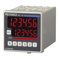 RC-14 - 48-mm□ 6-digit 7-segment LED, One-stage Preset, DC Power Supply
